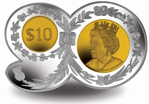 BVI 2016 $10 90 shape coin bSMALL