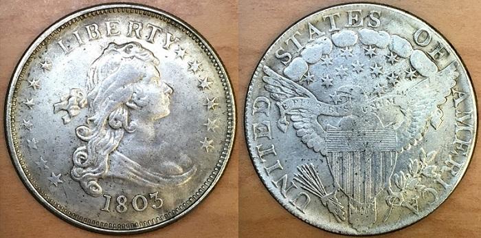 Counterfeit 1803 dollar obverseBOTH