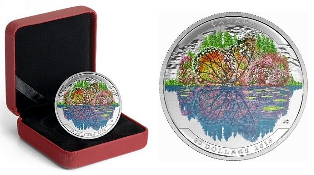 canada 2016 $20 illusions butterfly cBOTH