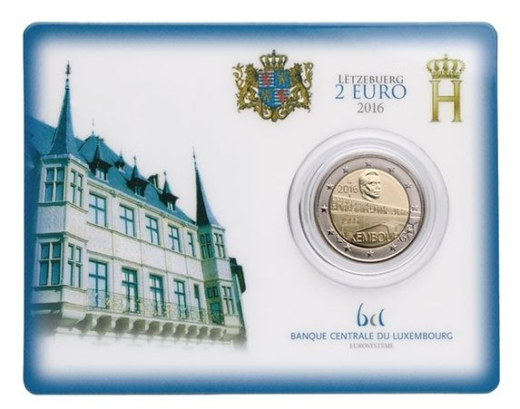 luxemburg 2016 €2 charlotte bridge c
