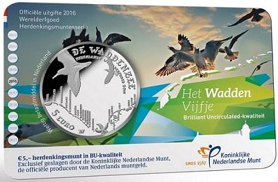 netherlands 2016 5€ wadden dSMALLer