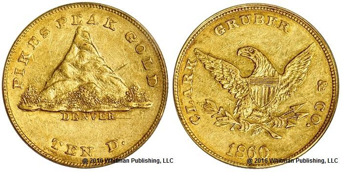 GBM 012-4820 Clark, Gruber 1860 $10 oBOTH