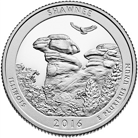 2016 Shawnee National Forest Proof quarter.