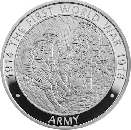 UK 2016 WWI £5 Army silverSMALL