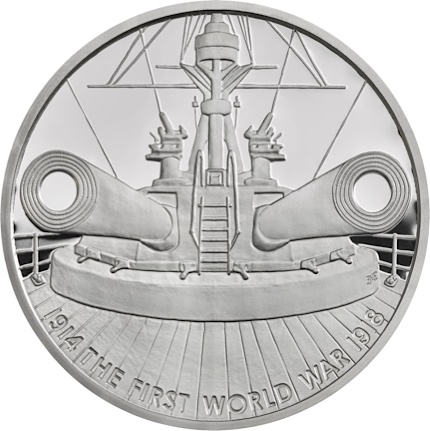 UK 2016 WWI £5 Dreadnought silverSMALL
