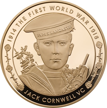UK 2016 WWI £5 cornwell goldSMALL