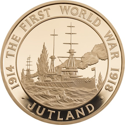 UK 2016 WWI £5 jutland goldSMALL