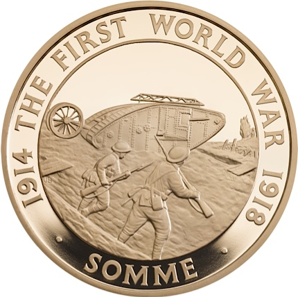 UK 2016 WWI £5 somme goldSMALL