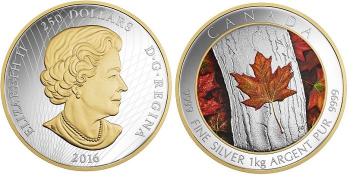 canada 2016 Kilo silver BOTH