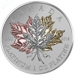 """Canada Releases 1 oz Platinum """"Maple Leaf Forever"""" Coin"""