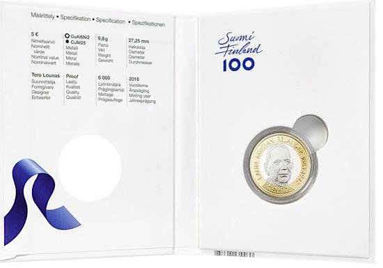 finland 2016 €5 relander cSMALL