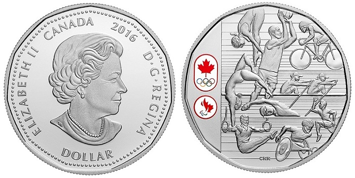 Canada 2016 $1 oylmpic athletes aBOTH