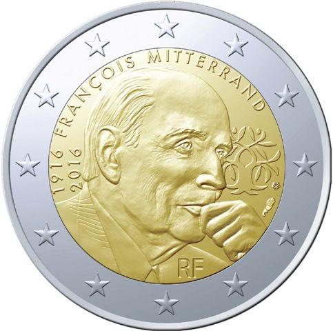 France 2016 €2 Mitterrand a