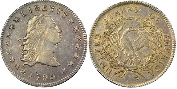 Obverse 1795 dual plugged dollarBOTH