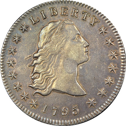 Obverse 1795 dual plugged dollarSMALL