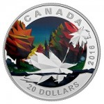 Canada's Final 2016 Geometry in Art Silver Proof Coin Features Maple Leaf Design