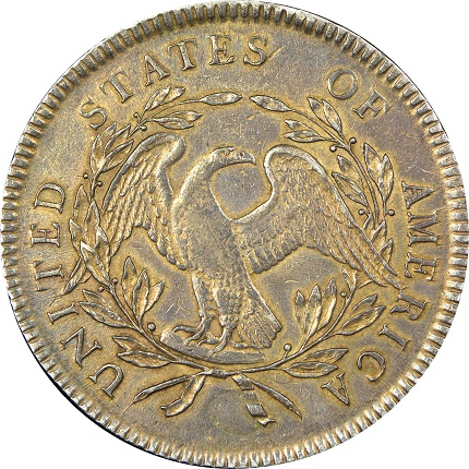 Reverse 1795 dual plugged dollarSMALL