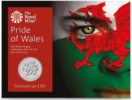 UK 2016 £20 Welsh-Dragon cSMALL
