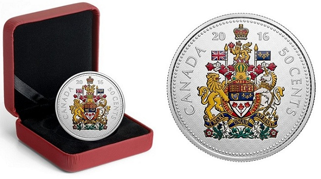 canada 2016 big coin 50 cents BOTH