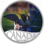 Canada's 150th Anniversary Series Launches With Colorful Loon Silver Coin
