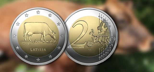 latvia 2016 €2 pair