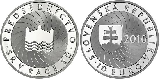 slovakia 2016 €10 EU presid. aBOTH