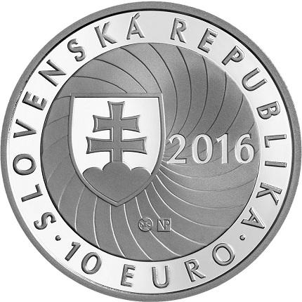 slovakia 2016 €10 EU presid. bSMALL