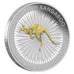 Perth Mint Issues 2016 Australian Kangaroo 1 oz. Silver Gilded Edition