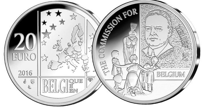 Belgium 2016 €20 relief fund bSMALL