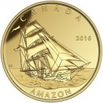 "Canada's Tall Ships Legacy Series Continues With ""The Amazon"" Gold Coin"