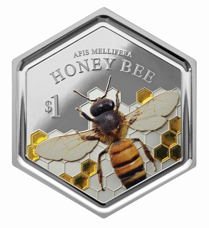 New Zealand 2016 $1 honey bee bSMALL