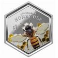 New Zealand 2016 $1 honey bee bTINY
