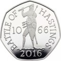 UK 2016 50 pence hastings silver bSMALL