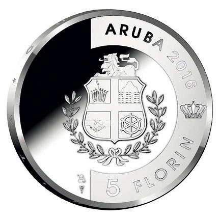 aruba 2016 5fl. 30th anniv. aSMALL