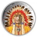 "Canada Releases ""Wanduta: Portrait of a Chief"" Five-Ounce Silver Proof Color Coin"