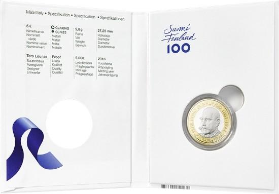 finland 2016 €5 svinhufvud c