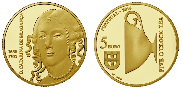 portugal 2016 €5 catherine gold pairSMALL