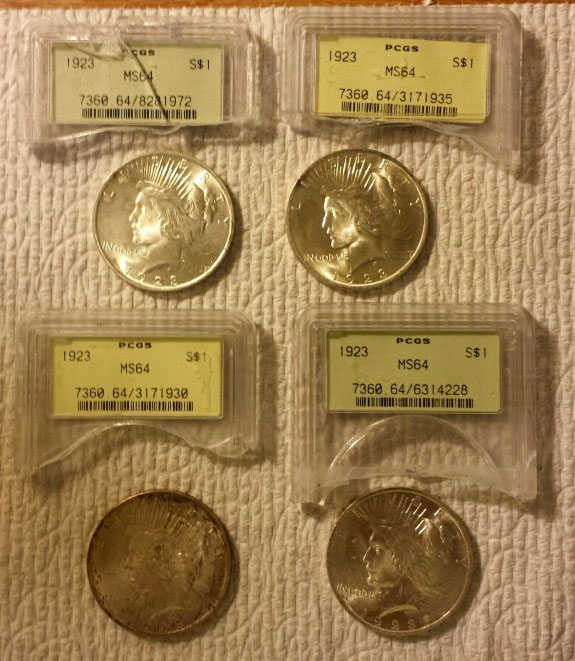 Grading Results of Cleaning and Old Green Holders | Coin