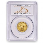 PCGS Offers First Strike Label for Standing Liberty Quarter Centennial Gold Coin