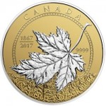 Canada's 150th Anniversary of Confederation Celebrated with Platinum-Plated Gold Coins