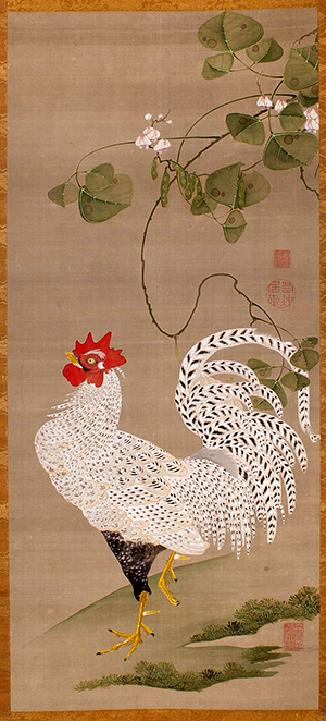 ito_jakuchu_-_hanging_scroll_white_rooster_-_google_art_project
