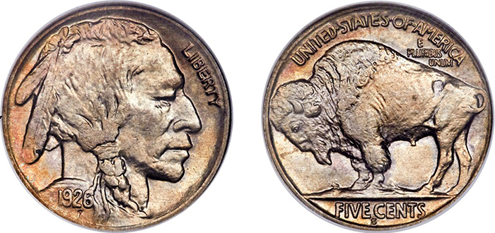 Heritage Signature Auction of U.S. Coinage, Oct. 31-Nov. 2, lot 5169: a Buffalo nickel graded MS-65.