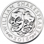 United Kingdom: Silver Collector Coin Marks 400th Anniversary of the Life of Shakespeare