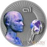 "Niue ""Artificial Intelligence"" $2 Silver Collector Coin Hints at an Unknown Future"