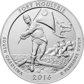 Reverse of the Fort Moultrie (Fort Sumter National Monument) 5-ounce silver Uncirculated coin. (U.S. Mint image)