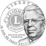 U.S. Mint Hosts Strike Ceremony for Lions Clubs International Centennial Silver Dollar