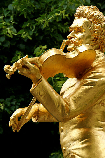 Johann Strauss II monument, Stadtpark, Vienna, Austria. (Dennis Jarvis photo)
