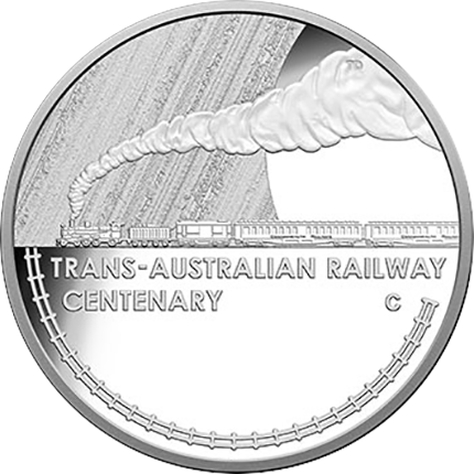The first coin to be minted in 2017: the Trans-Australian Mint Centenary silver dollar, struck in Canberra, Australia, by Luke Marshall.