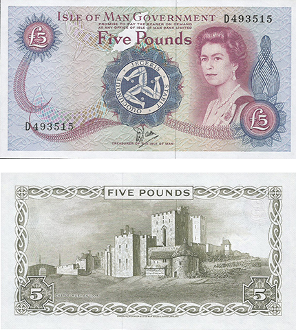 5 Pound note from the late 1980s. This was a long-running design printed from 1972 until being replaced in 1990.