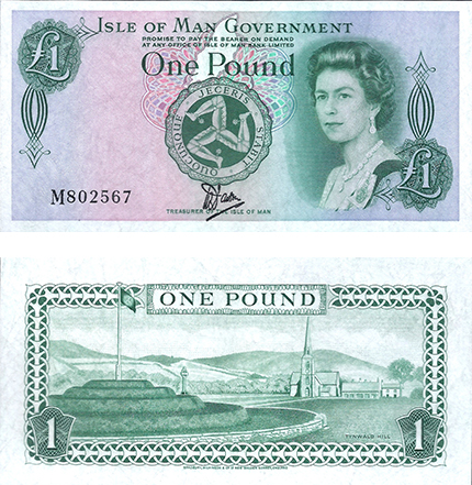 Printed on Bradvek, this 1 Pound note from the Isle of Man was one of the first experiments with polymer-related banknotes.